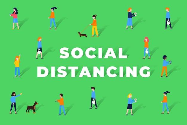 사회적 거리 배경