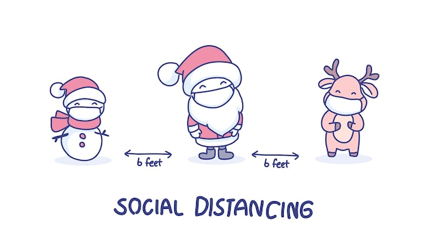 Social distancing in christmas