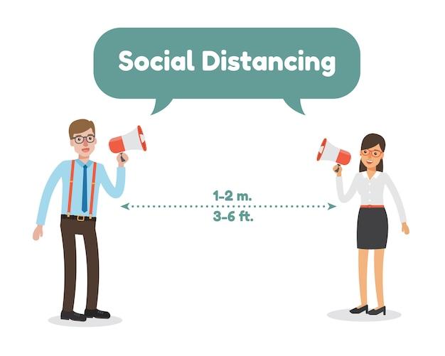 社会的距離、病気の認識。