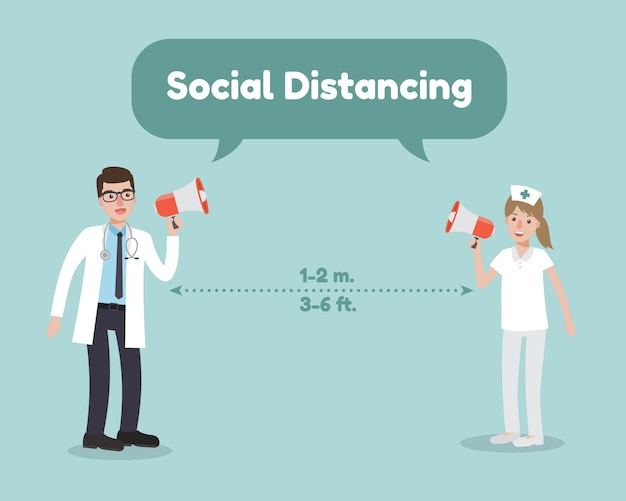 コロナウイルス病の社会的距離