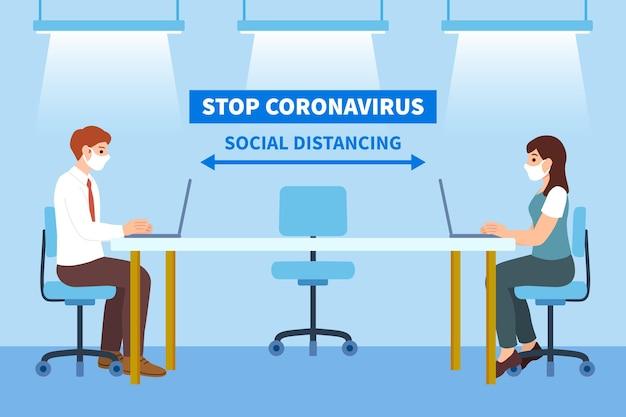 会議での社会的距離