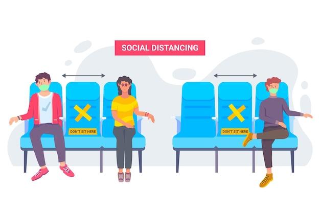 Социальное дистанцирование в общественном транспорте