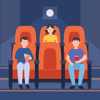 Social distancing measures in movie theaters
