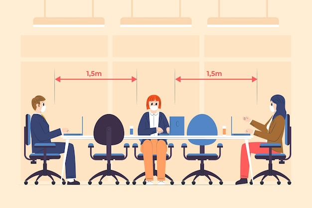 Social distancing in a meeting
