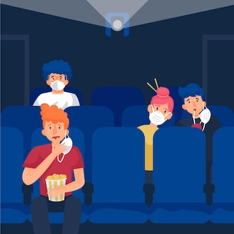 Social distancing in movie theaters