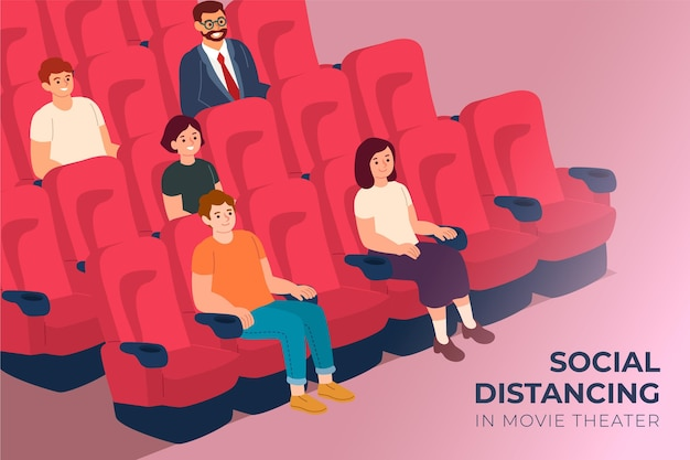 Social distancing in movie theatres
