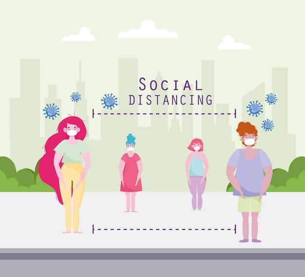 社会的距離の防止