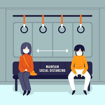 Social distancing in public transportation for safety