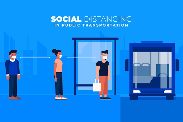 Social distancing in public transportation