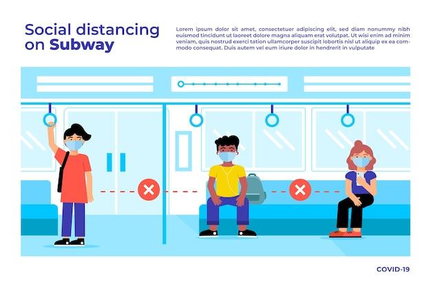 Distanziamento sociale nei trasporti pubblici