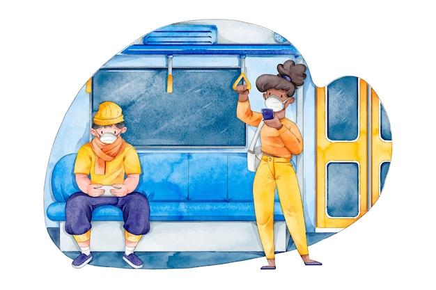 Social distancing in public transportation