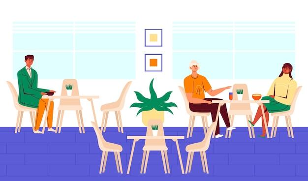 Distanziamento sociale nel ristorante