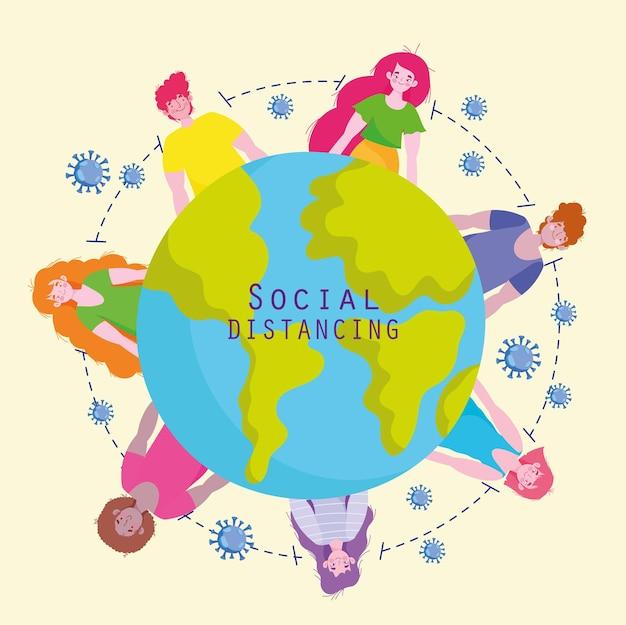 Мир социального дистанцирования