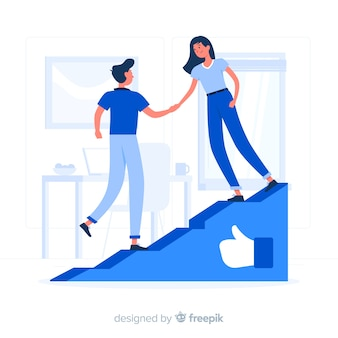Social growth concept illustration
