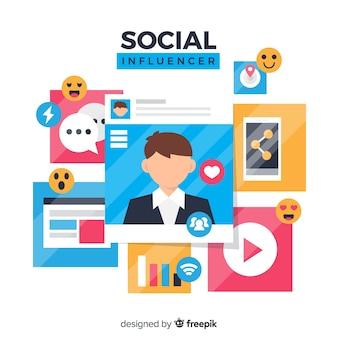 Social influencer background