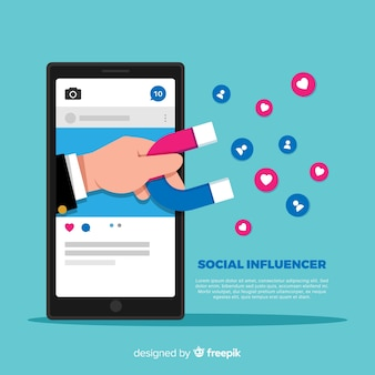 Social influencer background