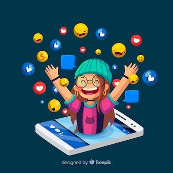 Social influencer concept