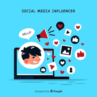 Social influencer marketing