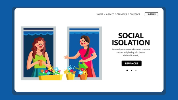 Социальная изоляция и дистанция на карантине