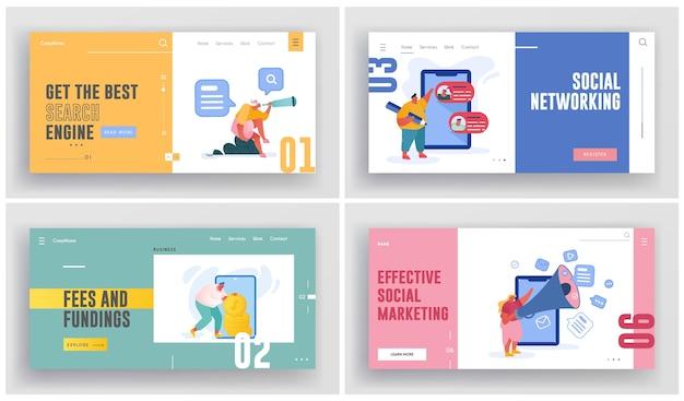소셜 마케팅, 네트워킹 그림