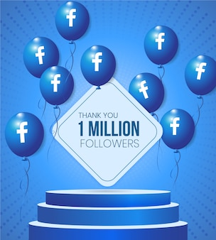 Social media 3d base frame with facebook vector balloons and text for business advertisement promotion and advisory board showcase