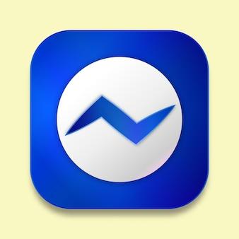 Social media 3d icon design