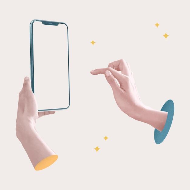 Social media addiction aesthetic post