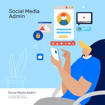 Social media admin doing client service