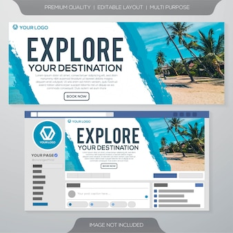 Social media ads cover template