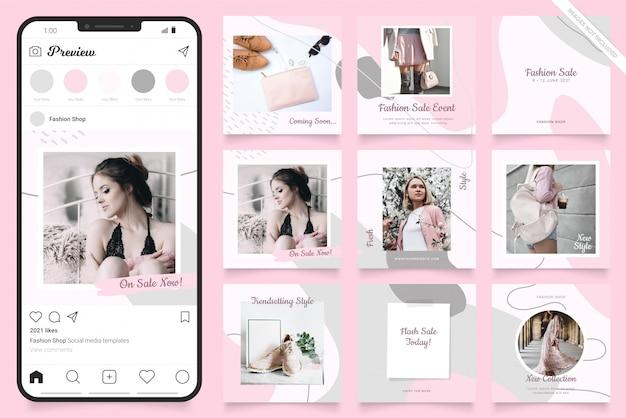 Шаблон рекламы в социальных сетях для instagram