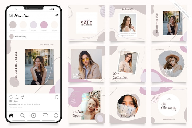 Social media advertisement template for instagram stories and facebook banner