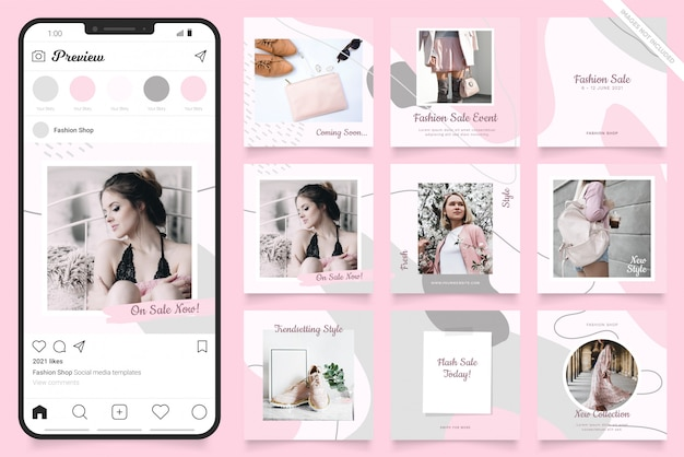 Social media advertisement template for instagram
