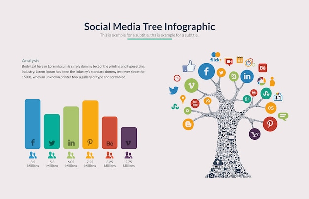 Social media analysis infographic