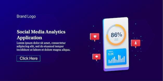 Social media analytics conceptual banner