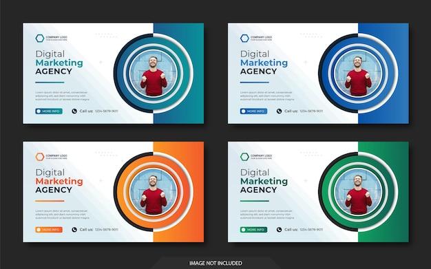 ソーシャルメディアとinstagramとwebバナーの投稿テンプレート