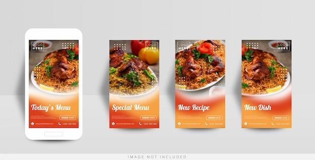 Шаблон продажи еды instagram в социальных сетях
