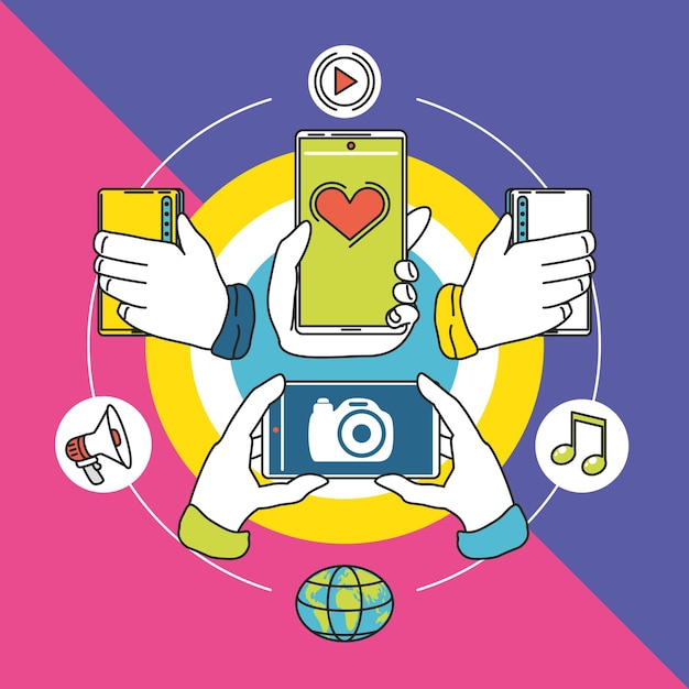 Social media application chat photo world