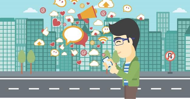 Social media applications.