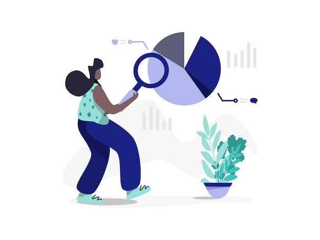 Social media audit flat illustration minimal modern style perfect for landing pages templates ui