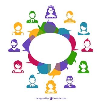 Social media avatars template Free Vector