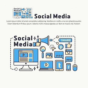 Social media background design