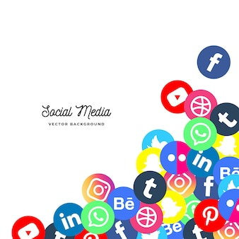 Social media background
