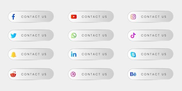 소셜 미디어 배지 및 레이블 컬렉션 팩