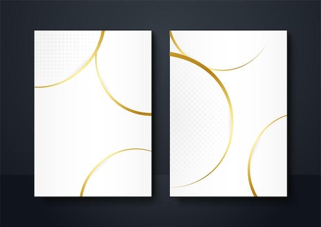 소셜 미디어 배너 배경 화이트 골드 색상입니다. 추상 장식, 황금 라인, 하프톤 그라디언트, 3d 벡터 일러스트 레이 션. 웨이브 표지 템플릿, 기하학적 모양, 현대 최소한의 배너