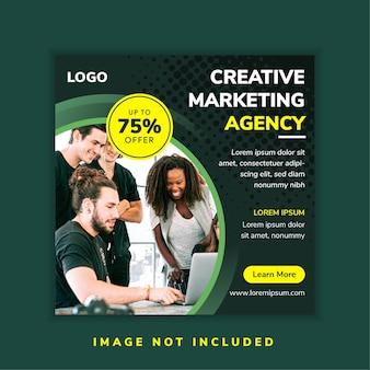クリエイティブマーケティングエージェンシーのソーシャルメディアバナー