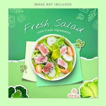 Social media banner fresh salad