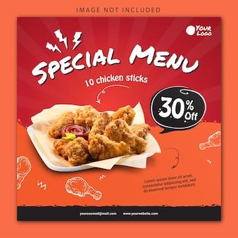 Social media banner fried chicken
