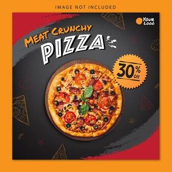 Social media banner pizza