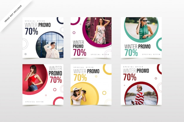 Social media banner sale and discount items