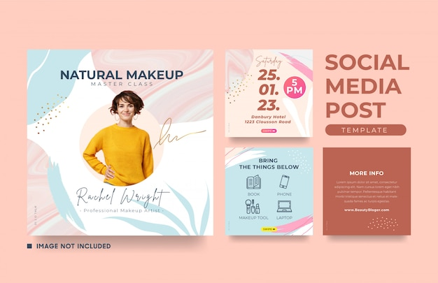 Social media banner template with a cool abstract design element